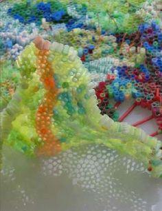 Plastic Straw Sculptures : Annie Boyden Varnot