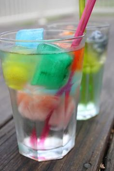 Magic Potion #kids #drink #recipe made with Kool-Aid Ice Cubes & Sprite or sparkling water