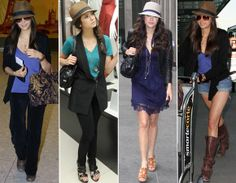 No dia a dia, a atriz dá uma atenção especial a acessórios para a cabeça: ela ama chapéus e aposta em modelos diferentes para deixar looks básicos muito mais estilosos!