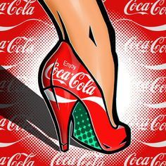 "50 Shades Of Heels - #56 ""Pop Art"" (Heeling Refreshment) For More Erotic Art Go To: http://www.eroticpowerline.blogspot.com"