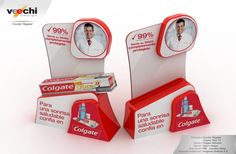 POP - Point of Purchase / Punto de Compra Counter Register Colgate Total 12 Colgate Palmolive