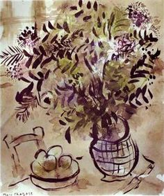 Still Life with Vase of Flowers - Marc Chagall