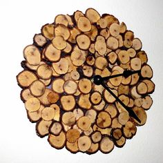 Unique Wood Clock Oak Clock by Shannybeebo on Etsy, $67.00