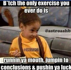 Bitches doing exercise lol