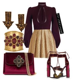"""""""Burgundy &Gold"""" by d3finedimage on Polyvore featuring Zimmermann, Creatures Of The Wind, Tom Ford, STELLA McCARTNEY, Bebe and Goossens"""