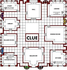clue game board printable birthday spy detective mystery party pinterest clue games and. Black Bedroom Furniture Sets. Home Design Ideas