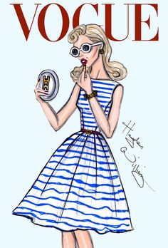 #Hayden Williams Fashion Illustrations #'Nautical Glamour' by Hayden Williams