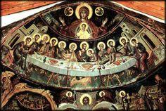 Last Supper, Stavronikita Monastery, Refectory, Fresco by Theophanes the Cretan, Cretan School, 1546