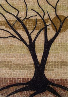 Handmade Mosaic of Dead Tree