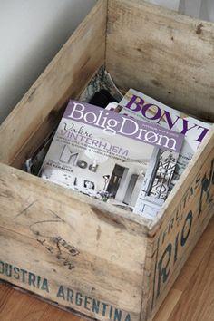 houten - krat - tijdschriften