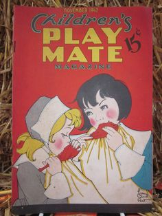 1942 Thanksgiving Holiday Children's Play Mate Magazine Cover Illustration By Fern Bisel Peat Stories Jokes and Puzzles for Kids. $10.00, via Etsy.