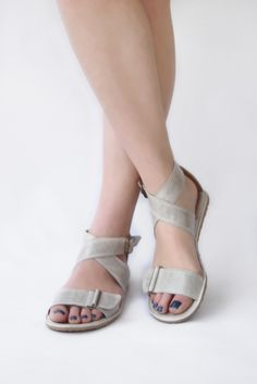 632e99252b6 Image of Sandals Handmade Leather - Sandal X in Light Grey - Zero drop  amp