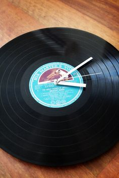 How to turn an old LP into a clock from Apartment Therapy.   Great idea for those records that are scratched and won't play but that you can't bear to part with!
