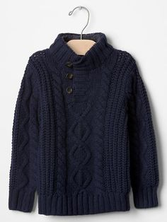 Shop Gap for high quality and comfortable toddler clothes everyone loves. Choose toddler boys clothes featuring stylish, practical designs that he will love to wear. Toddler Boy Outfits, Toddler Boys, Kids Outfits, Baby Boys, Toddler School Uniforms, School Uniform Fashion, Cable Sweater, Baby Knitting Patterns, Winter Wardrobe