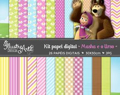 Masha and The Bear Digital Paper