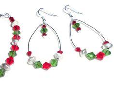 Swarovski Crystal Christmas Earrings by Sammiesidness on Etsy, $13.00