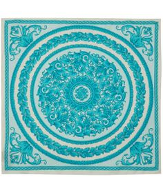 Versace Turquoise Baroque Circle Silk Scarf | Scarves by Versace | Liberty.co.uk