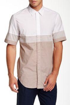 Colorblock Short Sleeve Shirt