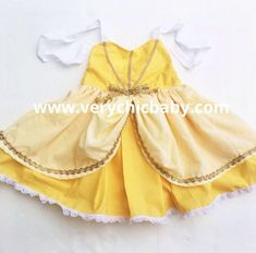 Beauty and the Beast Belle Dress Belle Costume Belle Dress Beauty and the Beast Costume Belle Girls Dress Belle Birthday Costume Girls Belle Dress, Girls Dresses, Princess Belle Costume, Little Mermaid Dresses, Beauty And The Beast Costume, Unicorn Dress, Heart Dress, Birthday Dresses, Costume Dress
