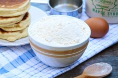 Homemade Bisquick Mix! Not only do we love the taste of pancakes made with this do-it-yourself mix, it also allows for no trans fats and healthier--even gluten-free options--of your favorite recipes!