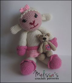Lambie from Doc McStuffins and Berry the Tiny Bear.   Both crochet patterns are available on Ravelry. Berry the Tiny Bear is a free crochet pattern.