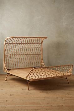 Slide View: 2: Curved Rattan Bed