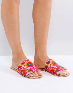 80d5c7d1626 ASOS FORT Embroidered Mules at asos.com