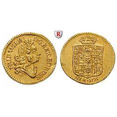 Brandenburg-Preussen, Königreich Preussen, Friedrich Wilhelm I., 1/4 Dukat 1715, vz/ss-vz: Friedrich Wilhelm I. 1713-1740. 1/4 Dukat… #coins