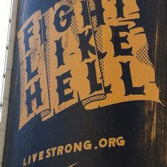#Livestrong billboard, 34th St. NYC