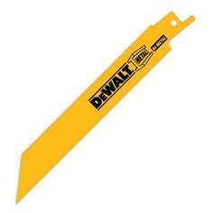 DEWALT DW48 Straight Back Bi-Metal 18 TPI Reciprocating Saw Blade