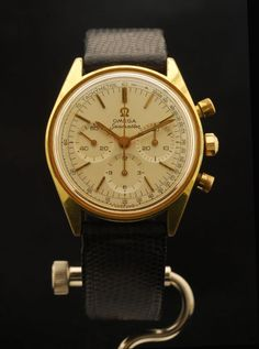 OMEGA Seamaster CHRONOGRAPH Vintage Gold Plated Dress Watch #145.018 Calibre:861