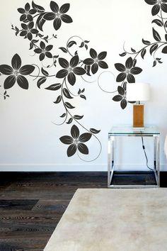 Interior Decor - Flowers on a vine Wall Sticker - By Vinyl Impression