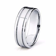 6mm Mens Tungsten Wedding Band