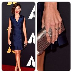 Hilary Swank wearing Maxus at her latest red carpet event!
