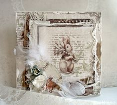 Beautiful Easter card by Minna for Pion Design. Paper collection: Fairytale of Spring.