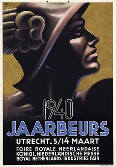 Jaarbeurs Utrecht - 23x33,5, 1940, on thin cardboard  by  Steen