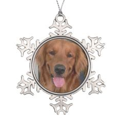 Cyber Monday: Up to 65% Off golden retriever products perfect for Christmas gifts or stocking stuffers!   Use Code: ZAZCYBER2014.  http://www.zazzle.com/justlovegoldens*.  Customize any gift with a picture of your fur baby.  Golden Retriever Snowflake Ornament