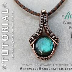 Handmade Jewelry Tutorials, Wire Tutorials, Jewelry Making Tutorials, Handmade Items, Wire Weaving Tutorial, Macrame Bracelet Tutorial, Necklace Tutorial, Wire Pendant, Wire Wrapped Pendant