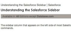 Salesforce Sidebar