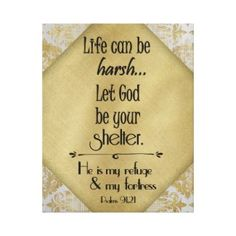 Christian Quotes Shop: Let God be your Shelter Quote with Bible Verse,,, #faith #prints #quotes