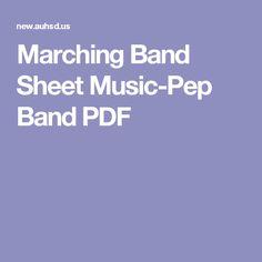 Marching Band Sheet Music-Pep Band PDF