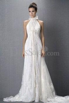 High Collar Neckline Chic Slim Cut Royal Style Dreamlike Wedding Dress