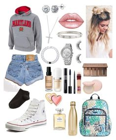 """""""School 82"""" by ella-goodness on Polyvore featuring BERRICLE, Tiffany & Co., Converse, Wolford, Lokai, Vera Bradley, Bobbi Brown Cosmetics, Marc Jacobs, S'well and Chanel"""