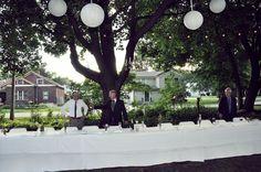 Groom/Bride/ family table