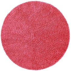 Chenille Pink Shag Rug (5' Round), Size 5'