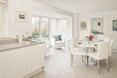 4 bedroom detached house for sale in Netherton, Huddersfield, - Rightmove. David Wilson Homes, Dining Room, Dining Table, Open Plan Kitchen, New Homes For Sale, Kitchen Living, Home Kitchens, Sweet Home, Kitchen Designs