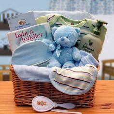 Organic Baby Boy Gift Basket - Blue|Corner Stork Baby Gifts