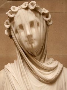 Veiled Vestal Virgin statue by Raffaelle Monti ~ this totally amazes me that it's sculpted from marble