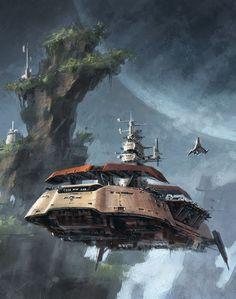 """imthenic: """" Concept art for Star Wars: Rise of the Hutt Cartel - Ryan Dening """""""
