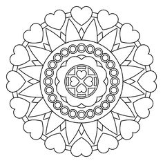 Printable Mandala for adult coloring...Jung suggested coloring to relax and unleash the subconscious...a possible technique
